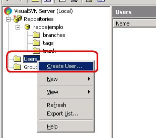 how to create repository in visualsvn server